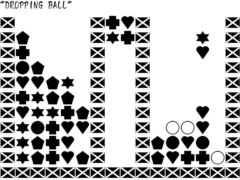 ボールを落とす
