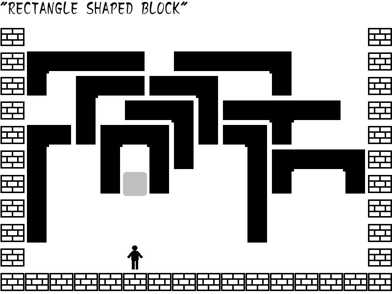 ブロックを矩形にして消す